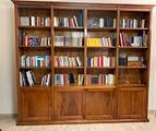 Libreria classica massello di noce nazionale