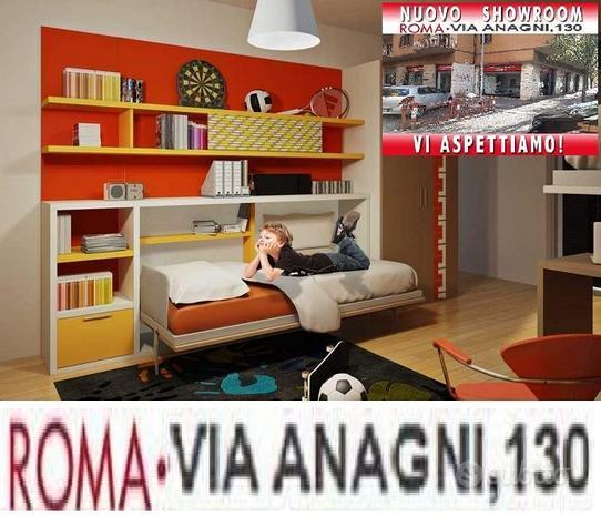 Letto a scomparsa singolo aflay 09-LETTI ROMA