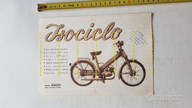 Iso 50 Isociclo 1955 depliant originale italiano