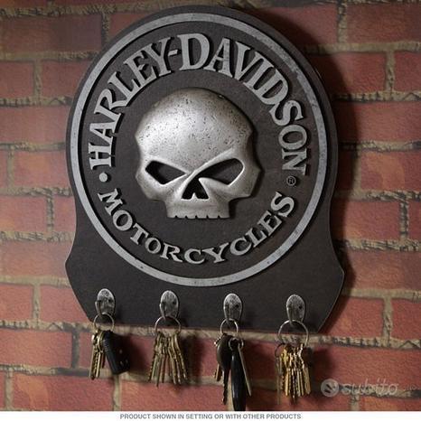 Ganci Porta Chiavi a Muro Harley Davidson Skull Qu