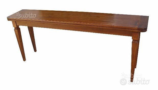 Tavolo artigianale con gamba luigi sedici