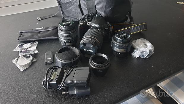 Reflex digitale Nikon D3000 +ottiche+accessori