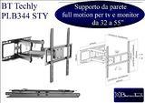 BT Techly PLB344 supporto da perete full motion