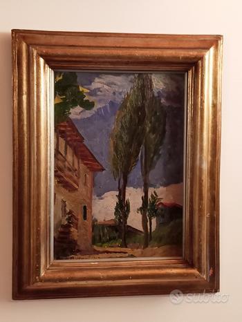 ALFREDO BELTRAME dipinto olio su tavola