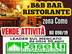 B&B e RISTORANTE CON BAR in zona Como