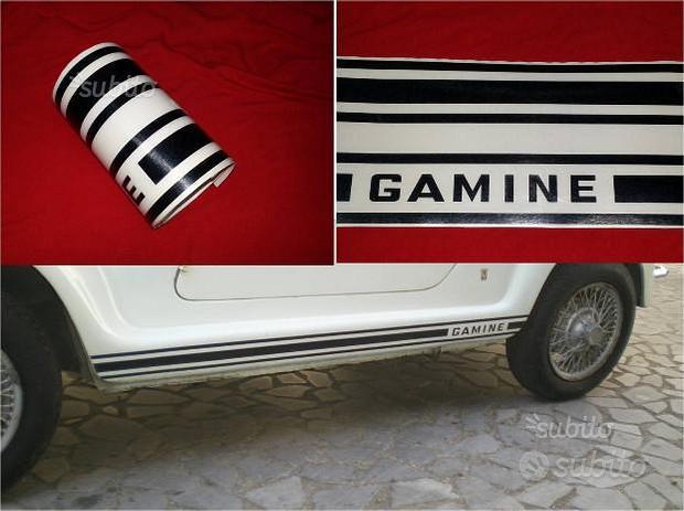 Fiat 500 gamine vignale strisce adesive