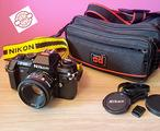 Fotocamera Reflex Nikon F-301 Obiettivo 50mm & Box