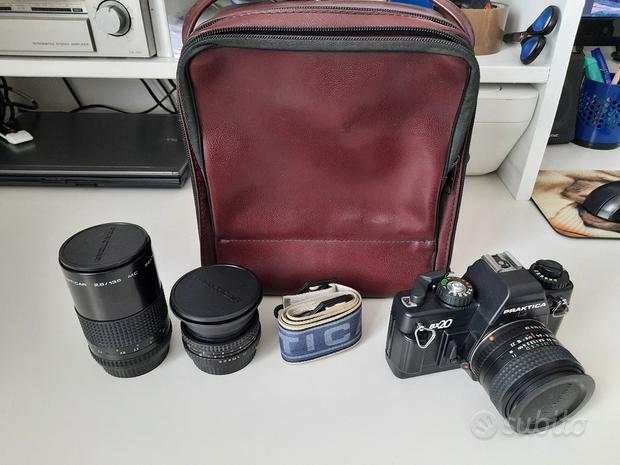 Praktica BX20 obiettivi borsa flash e ricambi foto