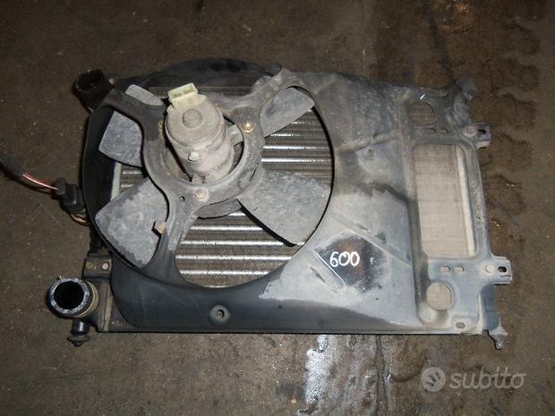 Radiatore+ventola raffreddamento Fiat 600 del 1998