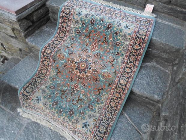 Tappeto persiano Iran ISFAHAN lana e seta