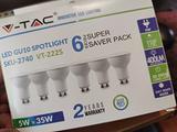 6 faretti LED lampadine GU10 Nuovi
