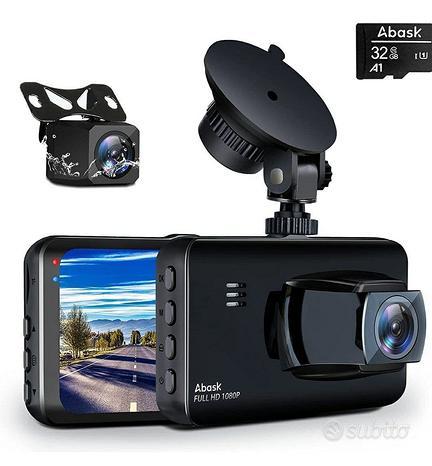 Dash Cam, Abask Doppia 1080P Full HD - AUTO E MOTO