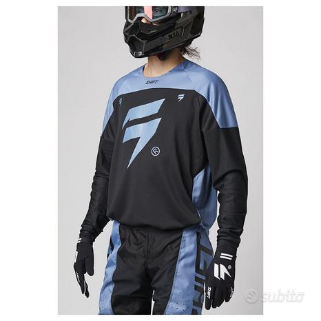 Tuta enduro motocross shift 2021 nero blu tgXL