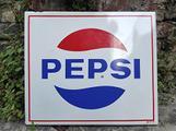 Insegna originale smaltata Pepsi Cola anni 70