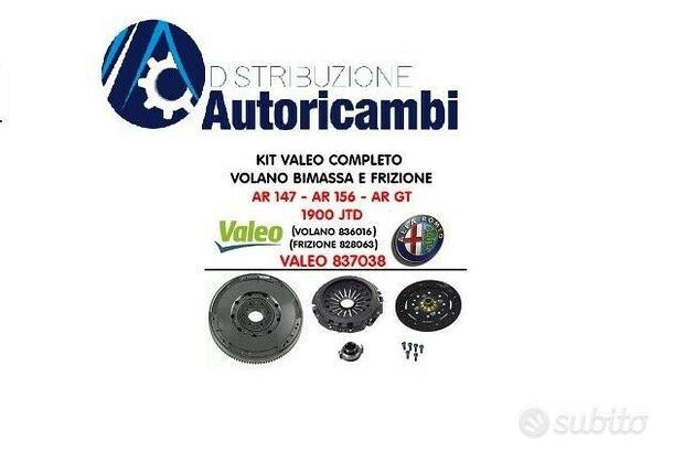 Volano e Kit Frizione Alfa Romeo 147-156 1.9 jtd