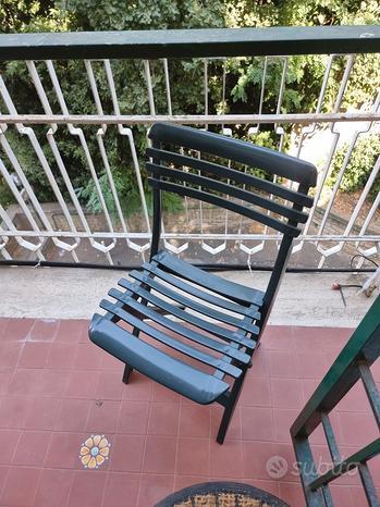 Sedie esterno verdi