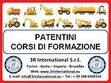 Patentino Cappotto, escavatore, trattore, muletto
