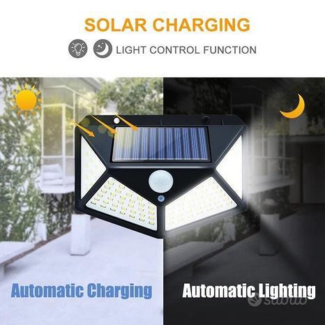 Lampada solare con sensore di movimento PIR wirele
