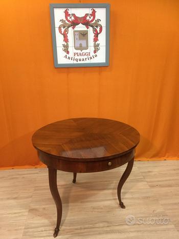 Antico tavolo tavolino legno di noce metà 1800 800