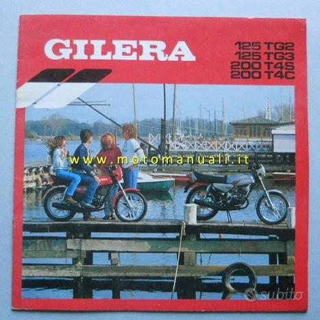 Gilera 200 T4 125 TG2 TG3 1983 depliant originale