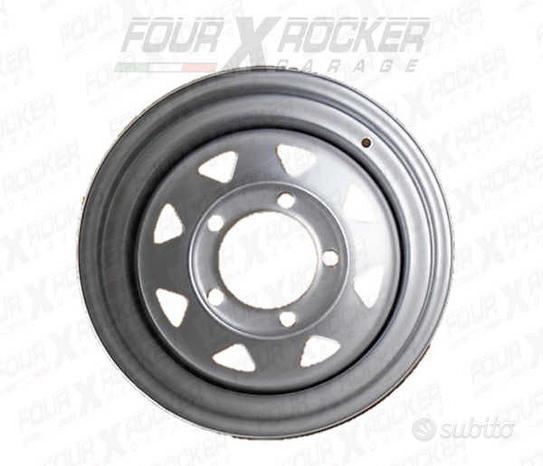 Cerchio tyrex dakar silver 5 fori 6.5x15 et-10