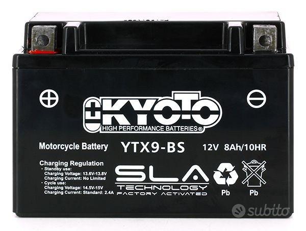 Batteria kyoto ytx9-bs 12v 8ah moto scooter suzuki