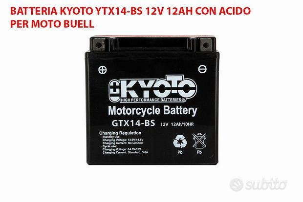 BATTERIA KYOTO GTX14-BS 12v 12ah AGM MOTO BUELL