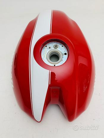 Serbatoio ducati monster s2r 800 rosso riga bianca