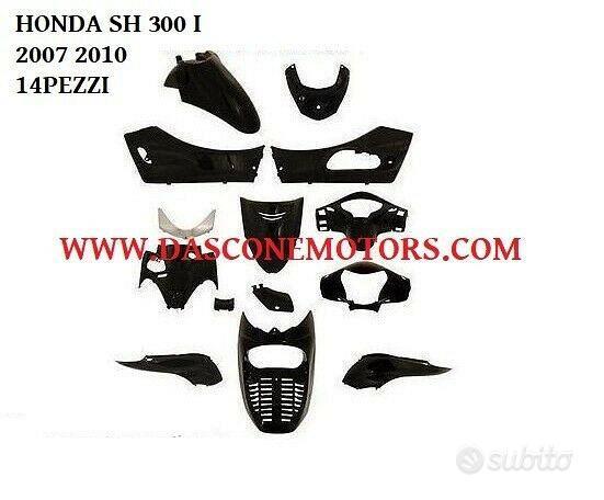 Kit carene sh 300 i 2007 2011 nero lucido