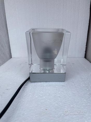 Lampada Fabbian Cubetto Tavolo Cubo Cristallo Vint