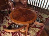 Tavolino da salotto noce più lampada elegante